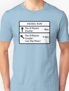 Kessel Run Smugglers Sign T-Shirt