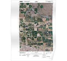 USGS Topo Map Washington State WA Frenchman Hills Lake 20110503 TM Poster