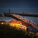 Night Falls on Whitby by hebrideslight