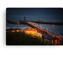 Night Falls on Whitby Canvas Print