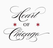 Heart of Chicago Neighborhood Tee by Chicago Tee