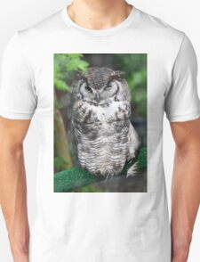 Spotted Owl in a tree Unisex T-Shirt