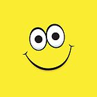 Happy yellow smiley face iPhone case by Mhea
