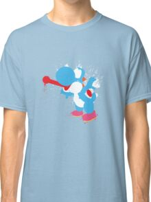 Blue Yoshi Splatter Design Classic T-Shirt