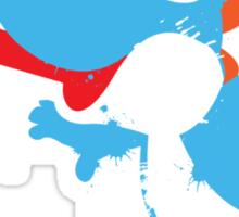 Blue Yoshi Splatter Design Sticker