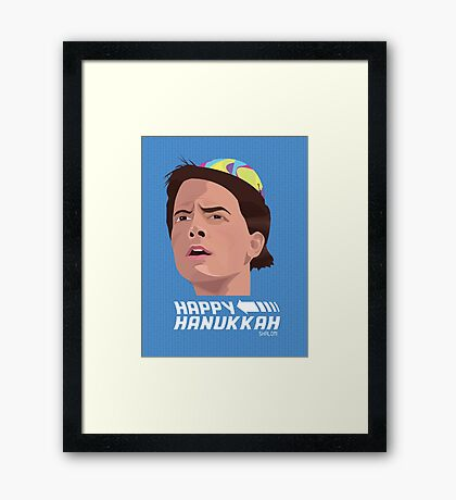 BACK TO THE FUTURE HANUKKAH Framed Print