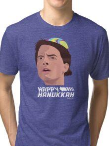 BACK TO THE FUTURE HANUKKAH Tri-blend T-Shirt