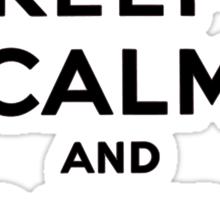Keep Calm, Black Sticker