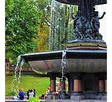 The Central Park fountain of.... Photographic Print