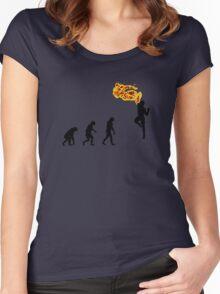 99 Steps of Progress - Shoryuken Women's Fitted Scoop T-Shirt