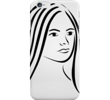 Face of a beautiful young woman  iPhone Case/Skin