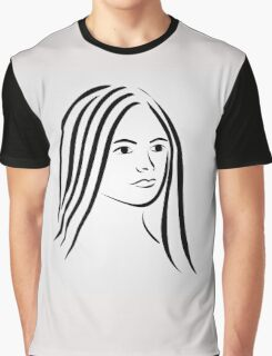 Face of a beautiful young woman  Graphic T-Shirt
