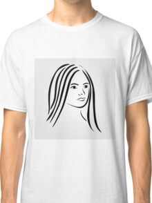 Face of a beautiful young woman  Classic T-Shirt