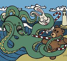 Teddy Bear And Bunny - Epic Battle by Brett Gilbert