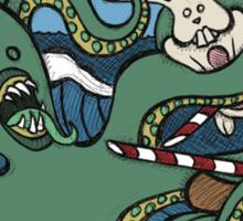 Teddy Bear And Bunny - Epic Battle Sticker