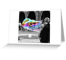 Bubbles are for all ages... Greeting Card