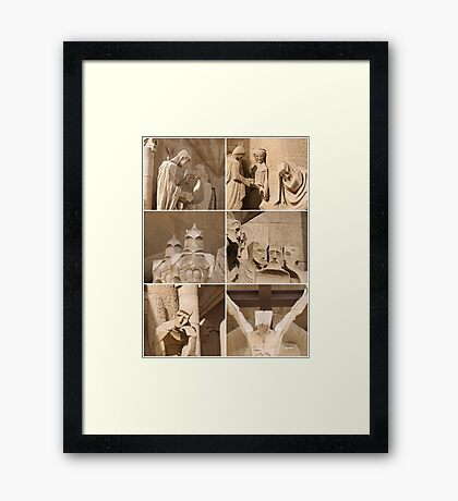Barcelona - Sagrada Familia Sculptures Framed Print