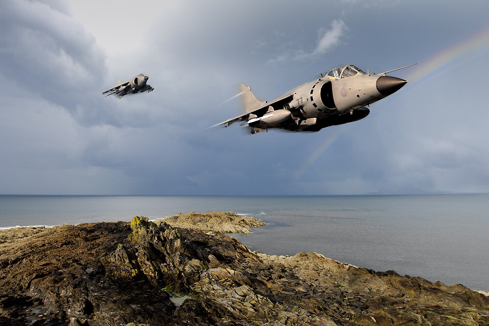Sea Harriers over the Falklands by Gary Eason