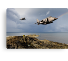 Sea Harriers over the Falklands Canvas Print
