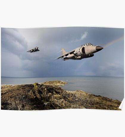 Sea Harriers over the Falklands Poster