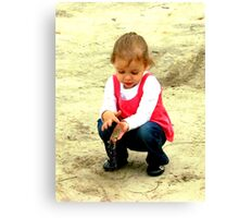 playing in the dirt Canvas Print