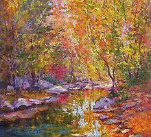 Creek in October by Julia Lesnichy