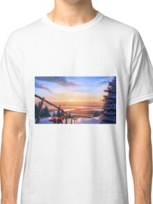 Red Fox's Wintry Sunrise Classic T-Shirt