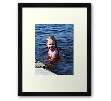 kynlie at the lake Framed Print