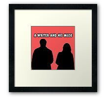 A writer and his muse Framed Print