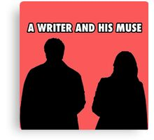 A writer and his muse Canvas Print