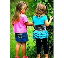 kynlie and harmoni Photographic Print