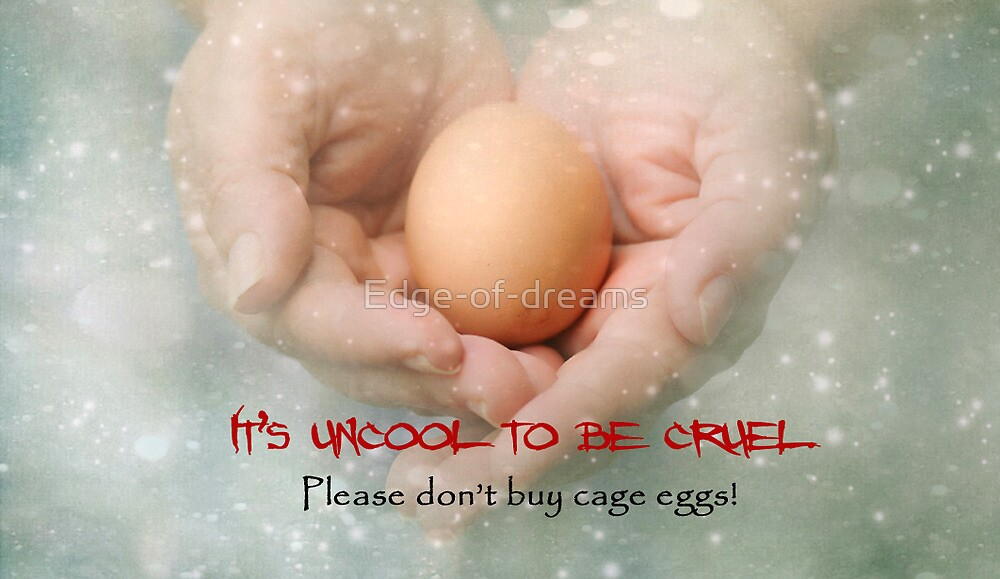 ~  Please don't buy cage eggs  ~ by Edge-of-dreams