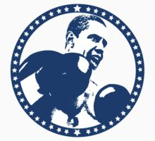Obama Fight Sticker by uncivilmouse