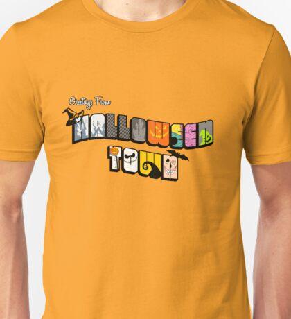 Halloween Town Postcard Unisex T-Shirt