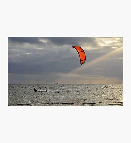 Orange Sail Photographic Print
