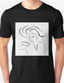 Face of a beautiful young woman  Unisex T-Shirt