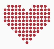 Red pixel heart Kids Clothes