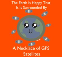 Necklace of GPS Satellites!  Kids Tee