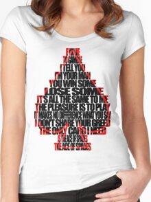 Ace Of Spades - Black and Red Women's Fitted Scoop T-Shirt