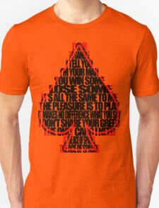 Ace Of Spades - Black and Red Unisex T-Shirt