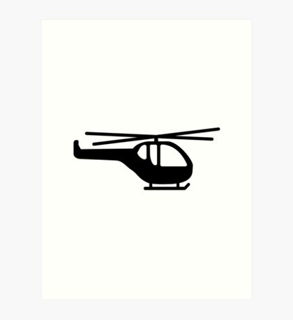 Helicopter pilot aviation Art Print