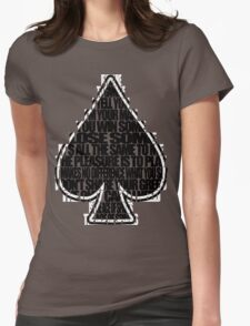 Ace Of Spades - Black and White Womens Fitted T-Shirt