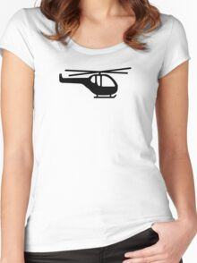 Helicopter pilot aviation Women's Fitted Scoop T-Shirt