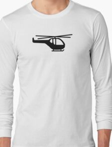 Helicopter pilot aviation Long Sleeve T-Shirt