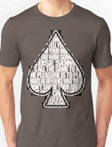 Ace Of Spades - White and Black Unisex T-Shirt