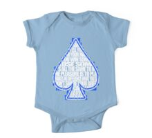 Ace Of Spades - White and Blue One Piece - Short Sleeve