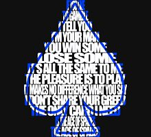 Ace Of Spades - White and Blue Mens V-Neck T-Shirt