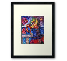 Horse in Blue Corset Framed Print