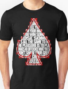 Ace Of Spades - White and Red T-Shirt