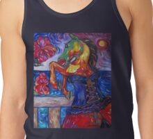 Horse in Blue Corset Tank Top